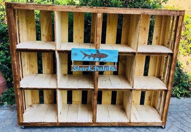 Estanterias Rusticas Madera Palet Negocio De Segunda Mano Por 130 - Estanterias-rusticas-de-madera