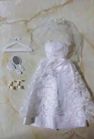 Traje de novia de Barbie