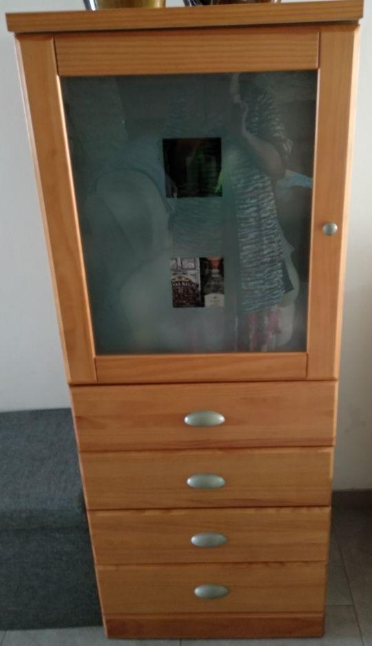 mueble bar de madera de pino