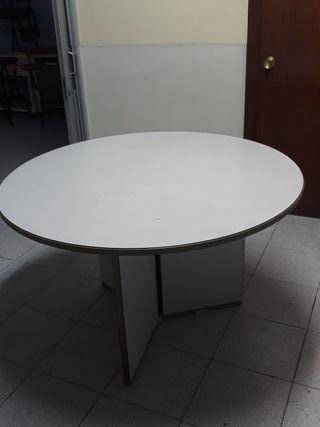 Mesa despacho redonda de segunda mano en wallapop - Mesas despacho segunda mano ...
