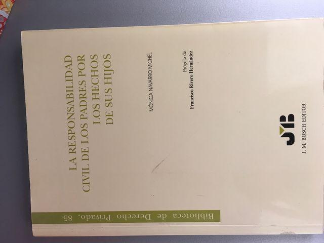 """Libro """"responsabilidad civil de padres por hechos"""