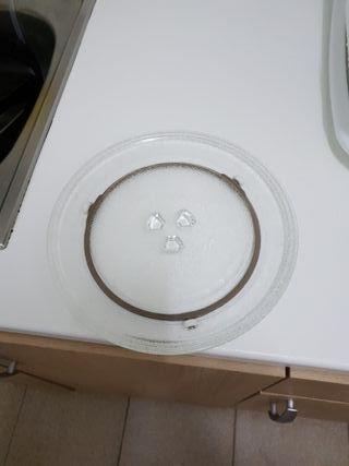 plato microondas y reja grill