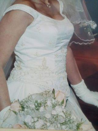 vestido de novia talla 38 de segunda mano en tres cantos en wallapop