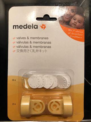 Válvulas y membranas para el saca leches medela