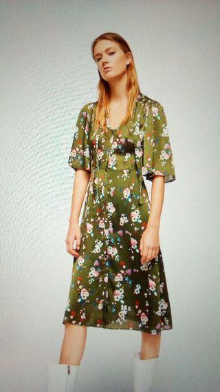 vestido floral midi.mango
