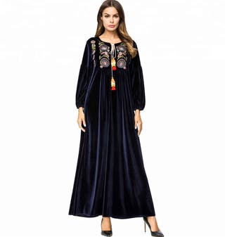 Velvet maxi dress maternity or islamic
