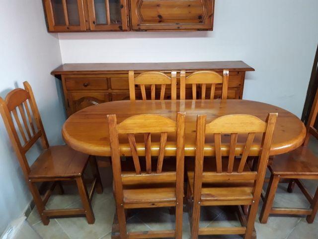 Conjunto mueble comedor madera de segunda mano por 475 € en Bellpuig ...