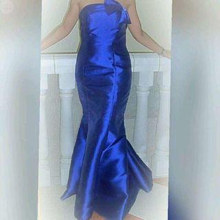 Vestido largo fiesta noche Azul Klein 38