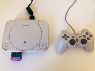 Playstation 1 + memory card perfectas