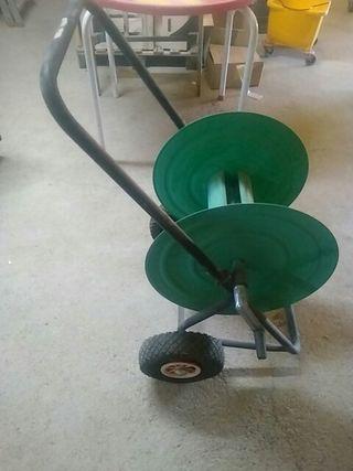 enrollador de mangera de riego
