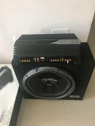 Amplificador y subwoofer Sony xplode