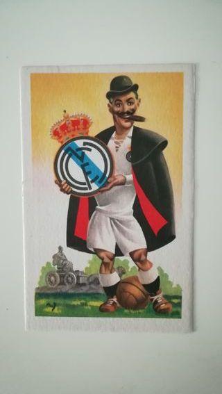 Tarjeta postal antigua Real Madrid.