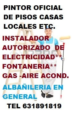 Electricista fontanero, Gas, Pintura y Decoracion
