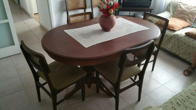 Conjunto mesa y sillas comedor vintage de segunda mano por 95 € en ...