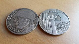 Moneda 100 Aniversario Benito Mussolini