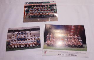 3 Postales Grandes de Real Madrid, Betis, Athletic