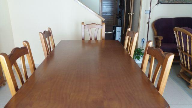 Conjunto de mesa y 6 sillas de comedor provenzal de segunda mano por ...