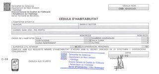 Cedula Habitabilidad / Certificado Energe