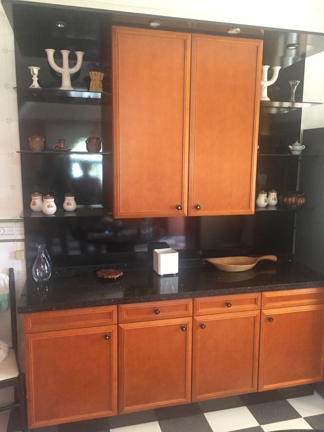 Cocina muebles madera y mármol de segunda mano por 200 € en ...