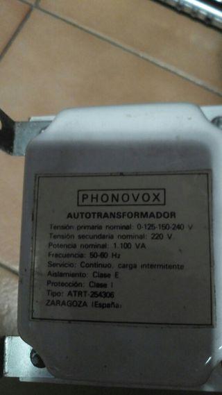 transformador 125-220 voltios.