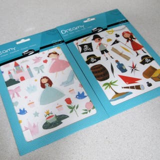 pegatinas stickers infantiles piratas princesas