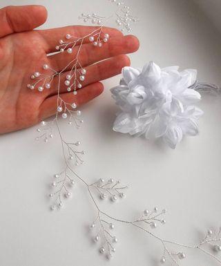 Muy fina y bonita tiara artesanal para novia Nueva