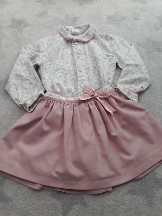 falda y camisa talla 4