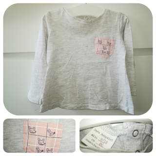 Camiseta manga larga_9-12 meses_Zara