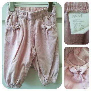 Pantalón pana fina_6-9 meses _H&M