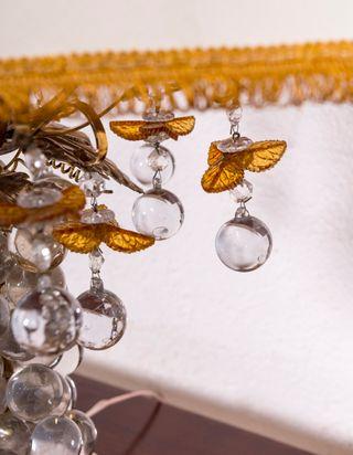 Lámpara De Sobremesa Antigua De Murano