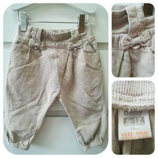 Pantalón pana fina_9-12 meses_Zara