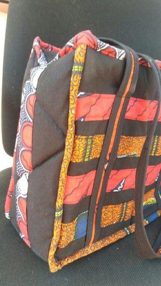 Bolso étnico de tela típico de senegal