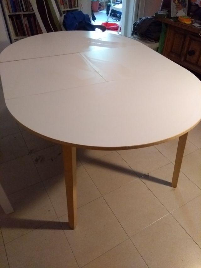 Mesa comedor extensible madera redonda de segunda mano por 30 € en ...