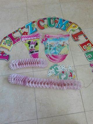 Lote decoración cumpleaños niña