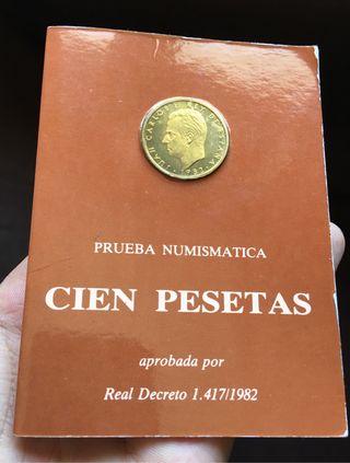 Moneda 100 Pesetas 1982 PRUEBA NUMISMATICA