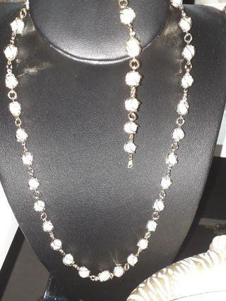conjunto de perlas.