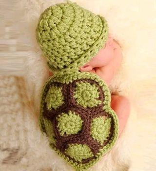 tortuga bebe foto croche disfraz recien nacido
