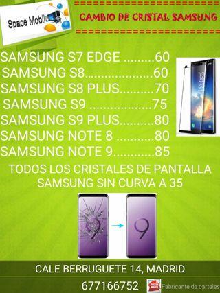 Cambio de cristal Samsung .