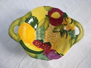 Frutero plato decorativo