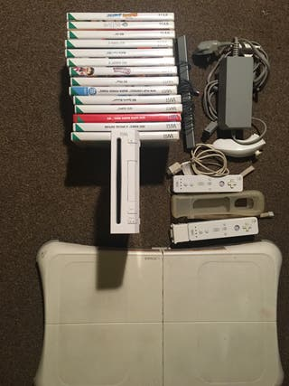 Nintendo Wii with games and Wii Fit