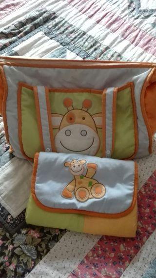 bolsa + cambiador de tu bebé