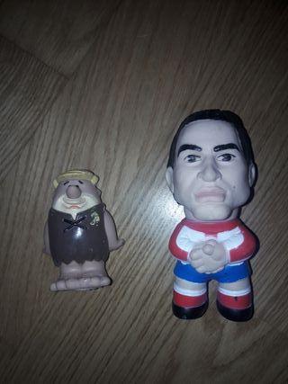 muñecos de goma cholo y picapiedra