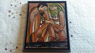 cuadro pintado a mano 35x45