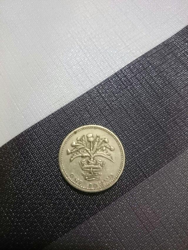 moneda inglesa one pound 1984