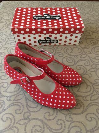 Zapatos de gitana flamencos