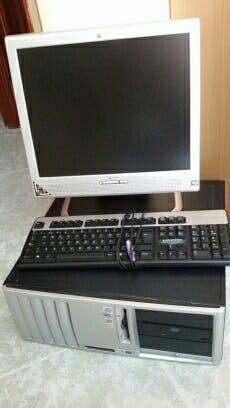 ordenador +pantalla plana + teclado