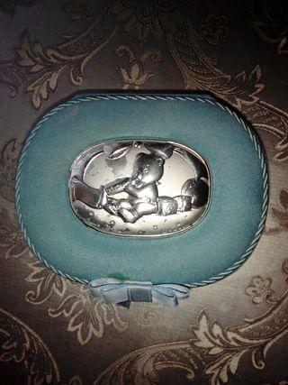 Joyero Pequeño Azul (bebé) Plata