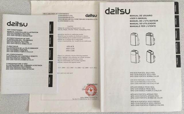 Aire acondicionado portátil Daitsu APD12-HR