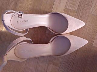 Zapatos mango rosa palo nuevos