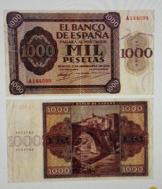 billete 1000 pesetas de 1936
